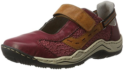 Femme L0578 Sneakers cayenne Taille scala Basses wine Rot Rieker Unique 35 Rouge qROtZZw