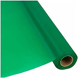 "Plastic Banquet Party Table Cover Roll - 40"" x 300 Feet - Disposable Tablecloths (GREEN)"
