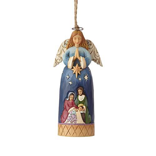 Enesco Jim Shore Heartwood Creek Nativity Angel Hanging Ornament, 4.75