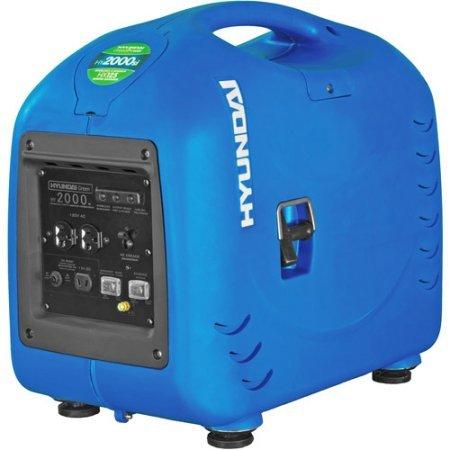 Hyundai HY2000si Portable Inverter Generator, Gasoline Powered, 1.8 gal. Fuel Capacity, 5.5 Hours Duration