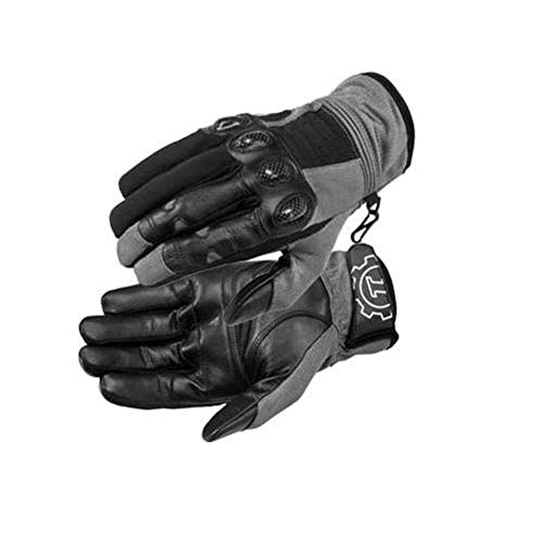 (FirstGear Mesh Tex Men's Vented Textile/Leather Street Motorcycle Gloves - Dark Grey/Black / 2X-Large)