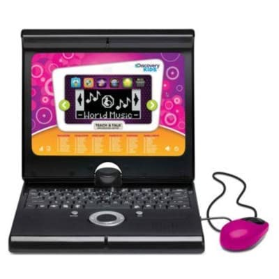 Discovery Kids Teach & Talk Exploration Laptop - Fuschia color - Built-in games - Educational toys - For her - Christmas gift: Toys & Games