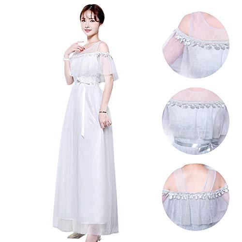 23793c290 Largos Bodas Fiesta Mujer De Dama Noche Con Disponibles Estilos 5 Xfentech Honor  Vestido Blanco 3 Vestidos xStwqRn0H