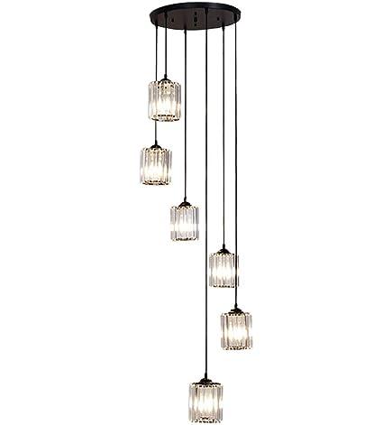 Amazon.com: Moderna lámpara de araña de cristal K9 con ...