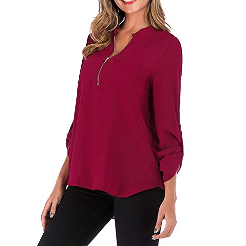 Women's Sexy Deep V Neck Short Sleeve Back Cross Tied Up Tee Backless Lace Crop Top Women's Tops Long Sleeve Lace WineRed