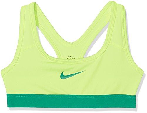 Nike Oudere Kinderen (meisjes) Medium Support Sportbeha Volt / Stadion Groen