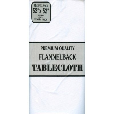 Carnation Home Fashions Vinyl Tablecloth with Polyester Flannel Backing