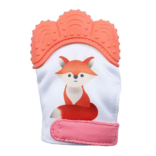 (Sport Sale Zohto 2019 Spring New Design Baby Silicone Fox Mitts Teething Mitten Molars Glove Wrapper)