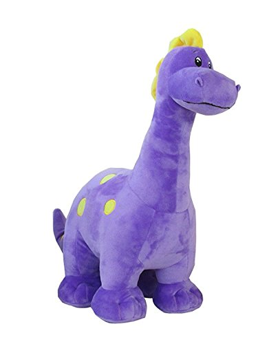TOPJIN Plush PP Stuffed Animals Dinosaur Toys Doll Like Figures for Children Kids Purple 18