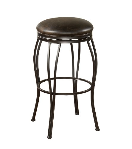 American Heritage Billiards Romano Bar Height Stool, Gray