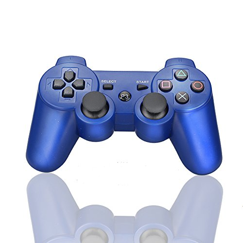 PS3 Controller Wireless Bluetooth Six Axis Dualshock Game Controller for Sony PlayStation 3 PS3 (Blue)