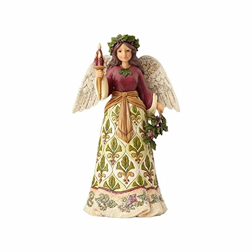 - Enesco 4058755 Jim Shore Heartwood Creek Collection Victorian Angel with Candle Stone Resin Figurine, 9.5
