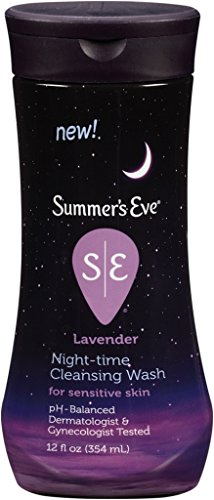 Summer's Eve Night-Time Cleansing Wash, Lavender, 12 Ounce--PH Balanced, Dermatologist & Gynecologist Tested-Packaging May Vary