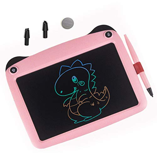 mom&myaboys Upgraded Colorful Screen 9 Inch Electronic Writing Board Doodle Board-Best Gifts for Kids (Pink)