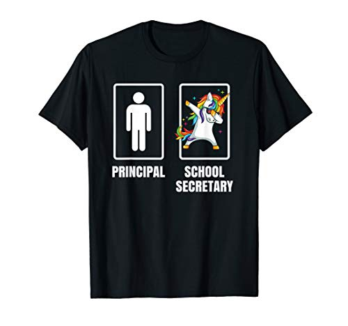Dabbing Unicorn School Secretary Principal Office Assistant T-Shirt