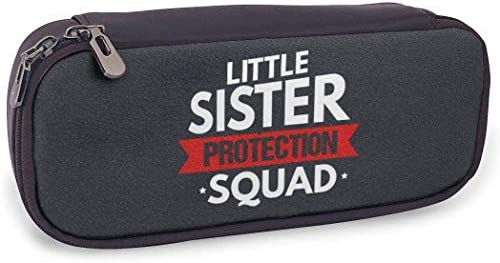 Sicherheit Little Sister Protection Squad Leder Federmäppchen Federmäppchen Beutelhalter Tasche für Collage Office der Middle High School
