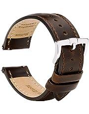 Brismassi Esetti Bracelets de Montre en Cuir à Libération Rapide - Bracelets pour Montres en Cuir Lisse Demi-rembourré pour Hommes et Femmes, Montres et Montres Connectées - 18mm 20mm 22mm