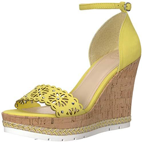 (GUESS Women's Devora Platform, Yellow, 9.5 M US)