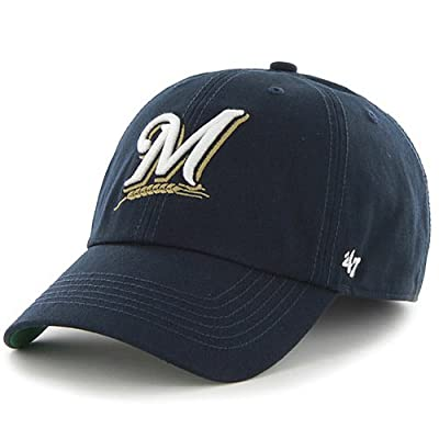 MLB Milwaukee Brewers '47 Brand Navy Basic Logo Clean Up Home Adjustable Hat