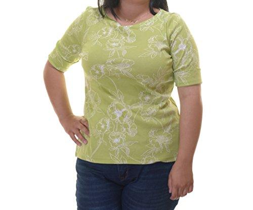 Karen Scott Short Sleeve Floral Print Size M