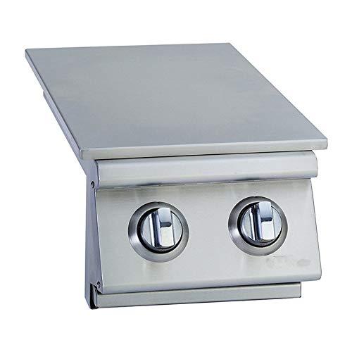 (MRT SUPPLY Outdoor Products Stainless Steel 22,000 BTUs Slide-in Double Side Burner with Ebook)