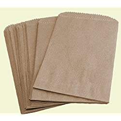 "Royal Brown Kraft Arts Crafts & Sewing Crafting Paper Crafts Paper Cellophane Wrap Flat Merchandise Bags 100 (5"" x 7 1/2"")"