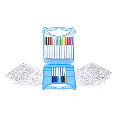 Crayola 04-0377 Create & Color Super Tips Kit SuperTips Washable Markers, Assorted: Toys & Games