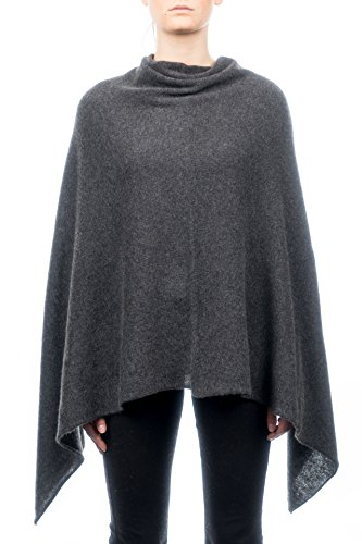 100 Dalle Antracite Piane Donna Cashmere Poncho zn0fq