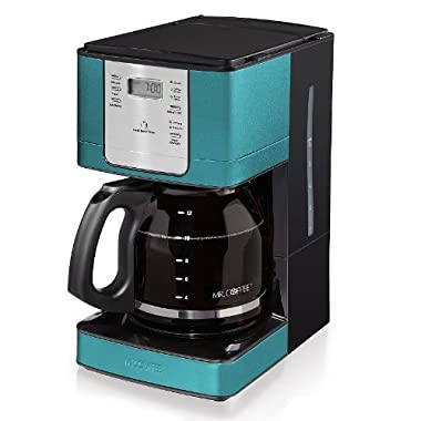 Mr. Coffee 12-Cup Digital Programmable Coffee Maker, Rare Turquoise | JWX36-AM