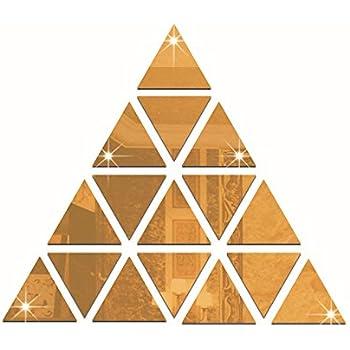 Amazon.com: 5CM Triangle Acrylic Mirror Wall Stickers, DIY ...