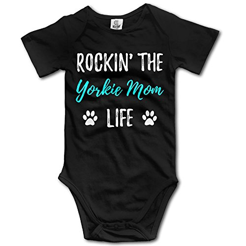 Unisex Baby Rocking The Yorkie Mom Life Short Sleeve Bodysuits One Pieces Summer Romper 6 M - Yorkie Teddy Bear Costume