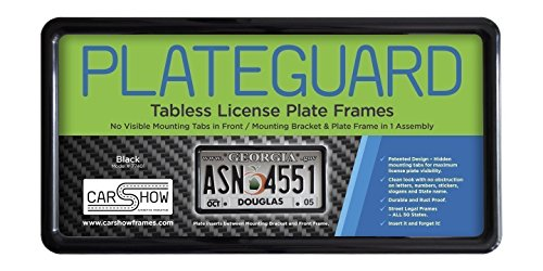 [Carshow Automotive Products 77401 Plateguard, Tabless License Plate Frame and Holder/Bracket, Black] (Name License Plate Frame)