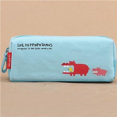 Gracioso estuche lápices azul turquesa hipopótamo de Mind Wave ...