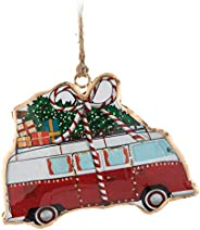 Abbott Collection Camper Bus with Tree Ornament (37-IMPRINT-006)