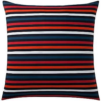 fa8fe8c8dc Sonia Rykiel of Paris Euro Striped Sham Rue Saint Guillaume Poppy Red 100%  Cotton