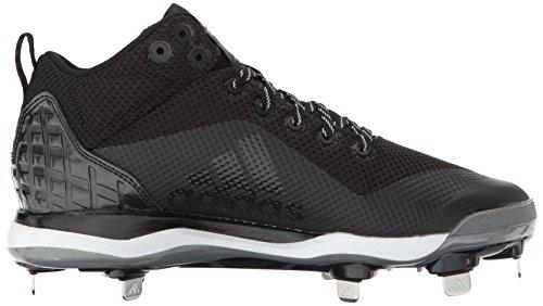 adidas Originals Men's Freak X Carbon Mid Baseball Shoe Core Black, Silver Met., Ftwr White