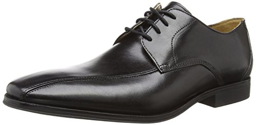 Clarks Uomo Mode Nero Gilman Black Derby Leather q8SOznqx