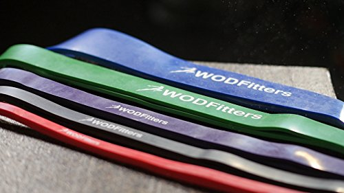 WODFitters Stretch Resistance Pull Up Assist Band with eGuide, 5 Blue - 65 to 175 Pounds (2.5'' 4.5mm) by WODFitters (Image #6)