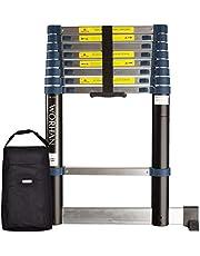 WORHAN® 2,6m (8' 6'') Enkele Telescopische Uitschuifbare Multifunctionele Aluminium Ladder Met Stabilisatortrap