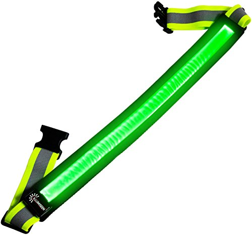 LED Reflective Belt - USB Rechargeable - High Visibility Gear for Running, Walking & Cycling - Fits Women, Men & Kids - Fully Adjustable & Lightweight - Safer Than a Reflective Vest - Green, Red, Blue]()