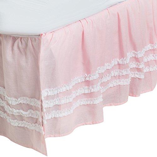 Levtex Pink Ruffled Bedskirt- Twin