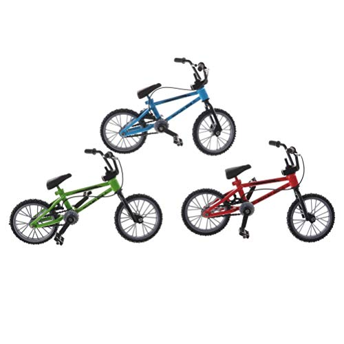 Mini Skateboards & Bikes - 3 Colors Mini Finger Bmx Toys Mountain Bike Fixie Bicycle Scooter Toy Creative Game Suit Children - Tech Scooter Shop Tricks Pegs Board Ramp Mini - 20 Inch Bmx Logo Bike