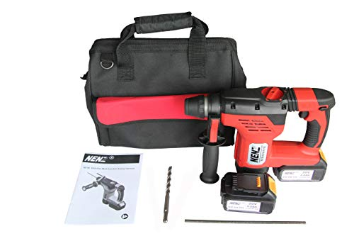 NENZ NZ-80Z 20V SDS Plus Rotary Hammer with 2 Lithium batteries 1 Charger