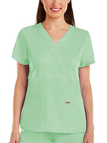 Grey's Anatomy 4153 Women's Mock Wrap Top Honeydew 2XL by Grey's Anatomy