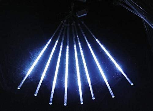 50/cm White luci LED Meteor doccia a pioggia Outdoor impermeabile giardino luci neve caduta di pioggia a cascata luce per la festa di nozze Home decorazioni per albero di Natale confezione da 8