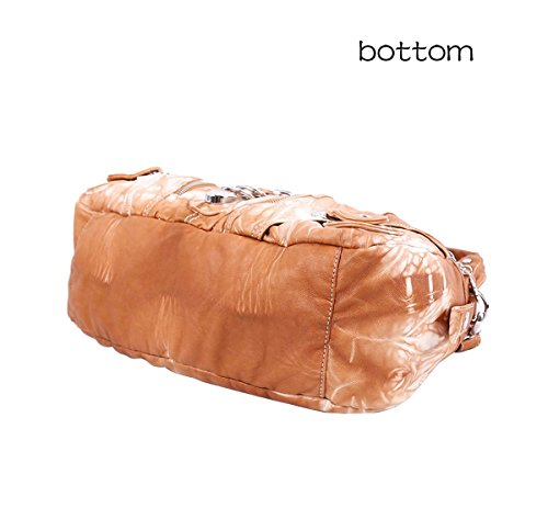 Señora marrón Cuero Organizadores In Bolsas Bolso Marrón Bolsillos 2 wgAS7Oqx