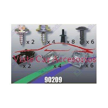 Rezaw - Plast Tornilleria y Clips para Cubrecarter 90209 Rezaw Plast