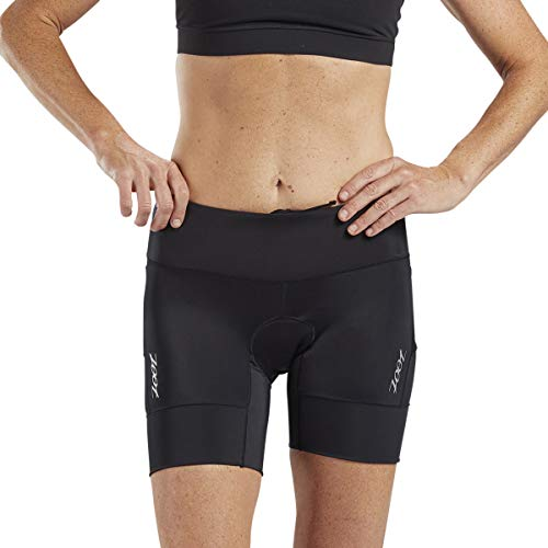 Zoot Core Womens 6-Inch Tri Shorts - Performance Triathlon Shorts with Endura Fabric and Hip Holster Pockets (Black, Large)