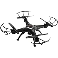 2.4G 4CH 6-Axis FPV RC Drone, Sunhouse Portable Mini Quadcopter Wifi Camera Real Time 2 Control Modes (Black)