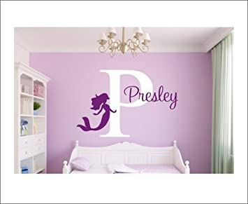 Beautiful Mermaid Wall Decals Personalized Name Wall Decal Stickers For  Girls Bedrooms Wall Decor